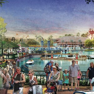 1 of 7: Disney Springs - Disney Springs concept art