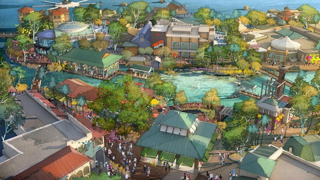 Disney Springs - Disney Springs - Marketplace concept art