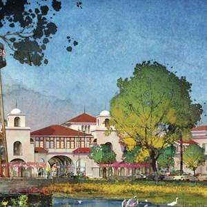 4 of 7: Disney Springs - Disney Springs - Town Center and The Landing concept art