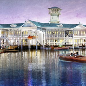 5 of 7: Disney Springs - Disney Springs - The Landing concept art