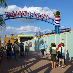 1 of 7: Disney Springs - Construction walls up in former Pleasure Island area