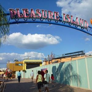 2 of 7: Disney Springs - Construction walls up in former Pleasure Island area