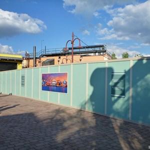 3 of 7: Disney Springs - Construction walls up in former Pleasure Island area