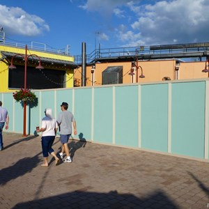 4 of 7: Disney Springs - Construction walls up in former Pleasure Island area