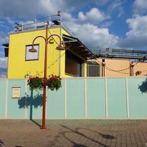 5 of 7: Disney Springs - Construction walls up in former Pleasure Island area