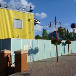 6 of 7: Disney Springs - Construction walls up in former Pleasure Island area