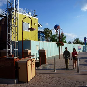 7 of 7: Disney Springs - Construction walls up in former Pleasure Island area