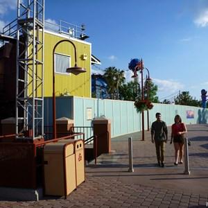 7 of 7: Disney Springs - Construction walls up in former Pleasure Island area