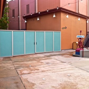 1 of 2: Disney Springs - More Disney Springs construction walls