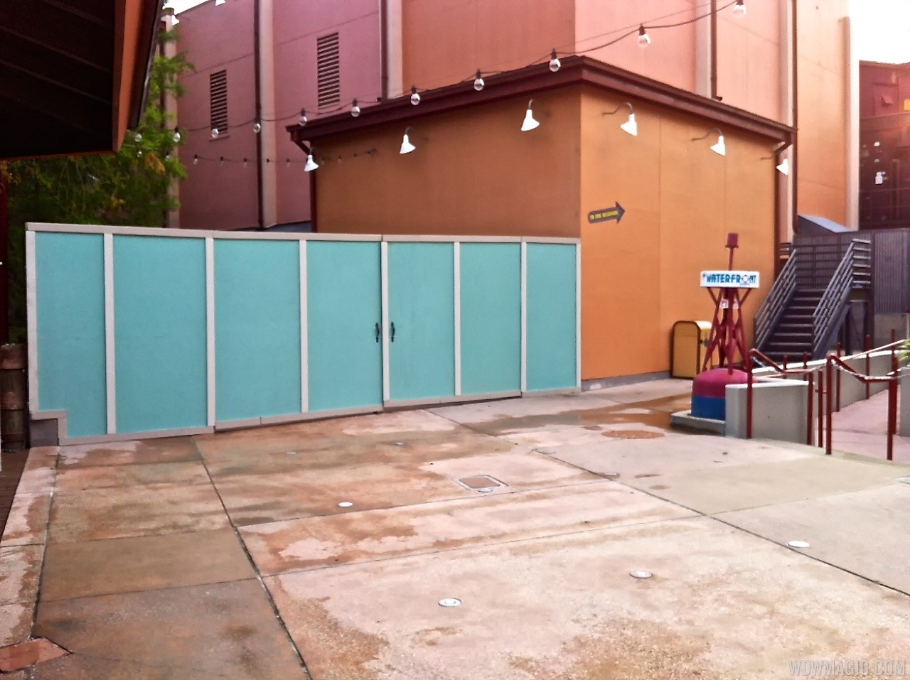 More Disney Springs construction walls