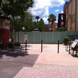 1 of 3: Disney Springs - Disney Springs construction walls around more of Pleasure Island