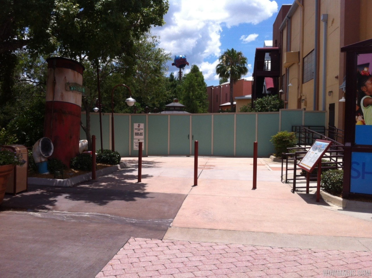 Disney Springs construction walls around more of Pleasure Island
