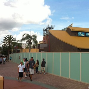 3 of 3: Disney Springs - Disney Springs construction walls around more of Pleasure Island