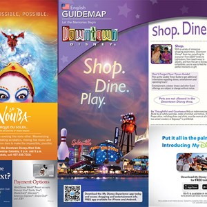 3 of 3: Disney Springs - Updated Downtown Disney guide map featuring Pleasure Island demolition