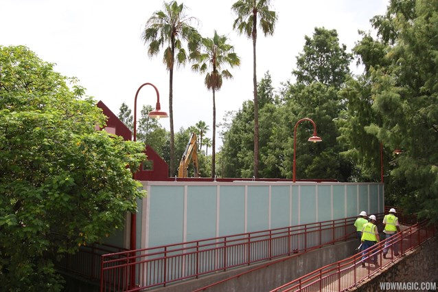 Disney Springs - Disney Springs construction site on Pleasure Island - demolition crews entering the Comedy Warehouse area
