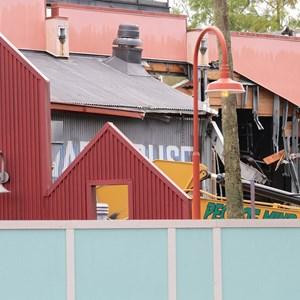 4 of 13: Disney Springs - Disney Springs construction site on Pleasure Island - Comedy Warehouse demolition