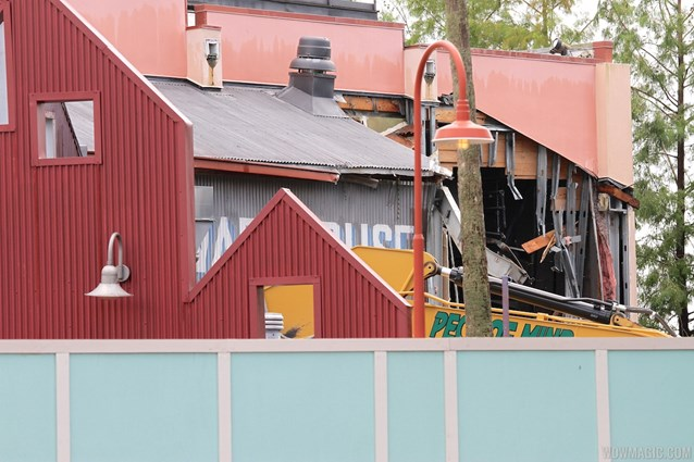 Disney Springs - Disney Springs construction site on Pleasure Island - Comedy Warehouse demolition