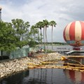 Disney Springs - Disney Springs construction site on Pleasure Island - Work on the temporary Pleasure Island bypass bridge