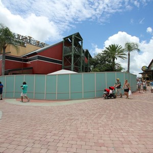9 of 13: Disney Springs - Disney Springs construction site on Pleasure Island - View of the entrance to Pleasure Island