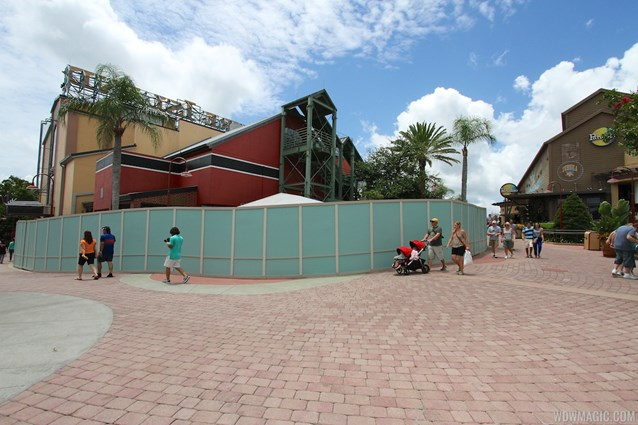 Disney Springs - Disney Springs construction site on Pleasure Island - View of the entrance to Pleasure Island
