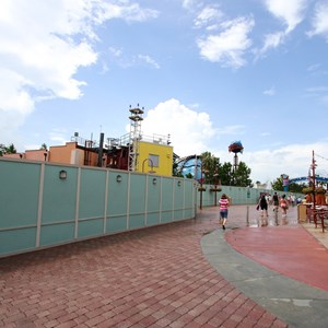 11 of 13: Disney Springs - Disney Springs construction site on Pleasure Island - View towards the Comedy Warehouse area
