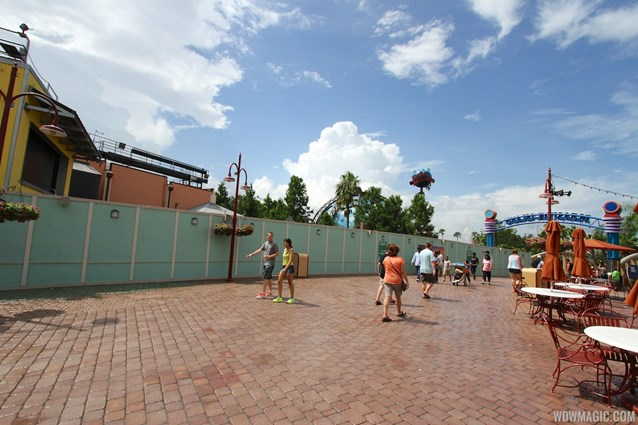 Disney Springs - Disney Springs construction site on Pleasure Island - View of the demolition site