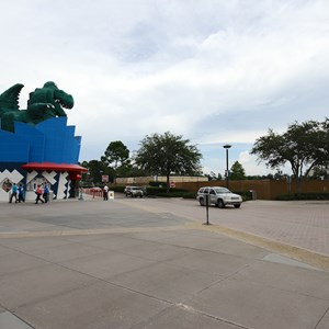 4 of 6: Disney Springs - Parking lot H walled off