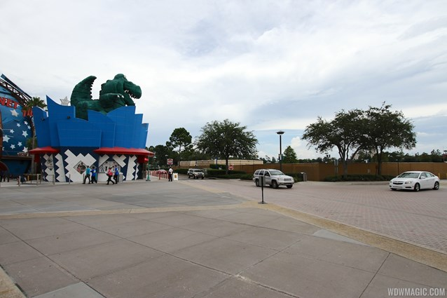 Disney Springs - Parking lot H walled off