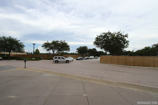 Disney Springs - Parking lots H and I walled off