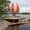 Disney Springs - Start of the temporary Pleasure Island bypass bridge