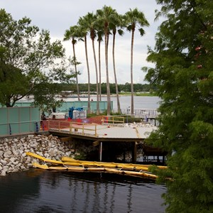 2 of 3: Disney Springs - Start of the temporary Pleasure Island bypass bridge