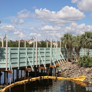 1 of 6: Disney Springs - Pleasure Island bypass bridge construction