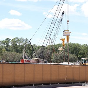 2 of 5: Disney Springs - Disney Springs parking garage construction