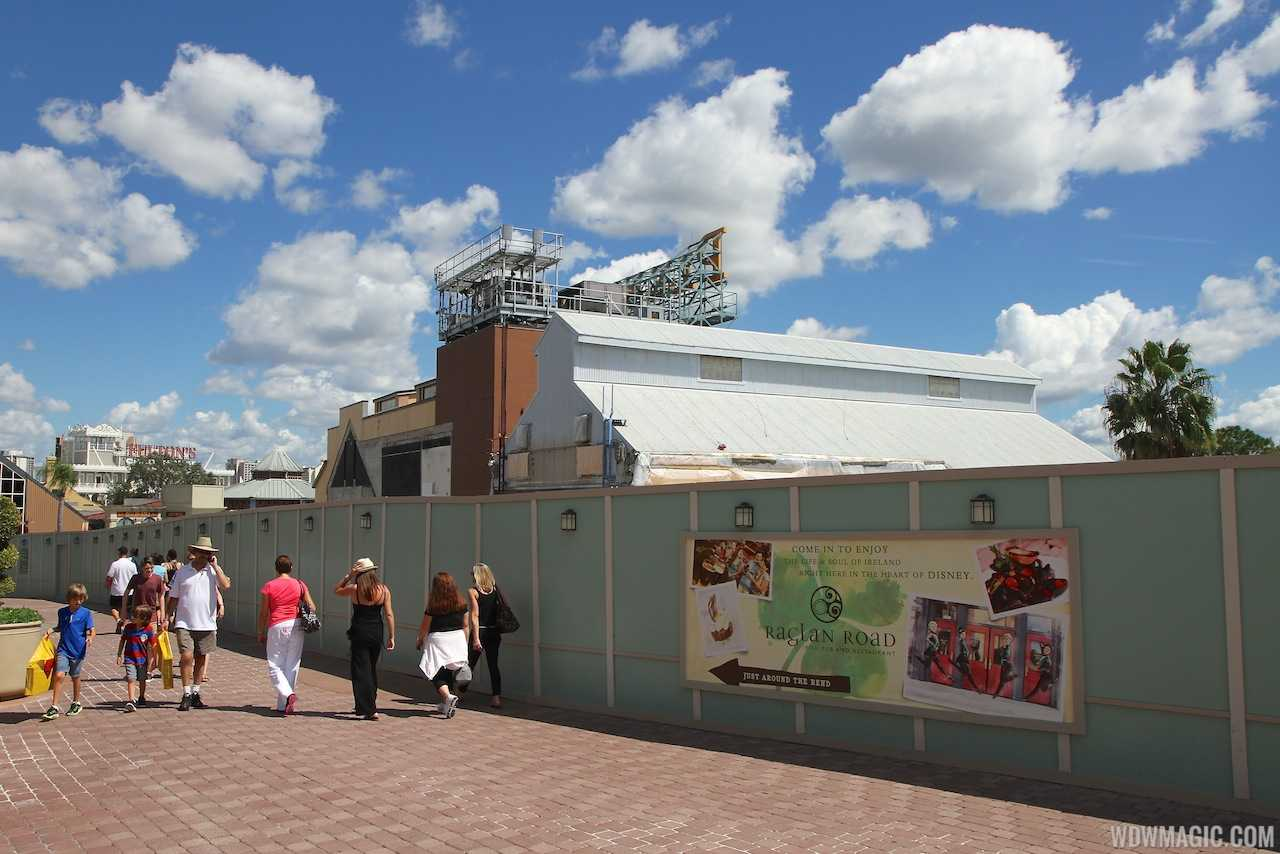 Most of the Pleasure Island buildings have now been removed