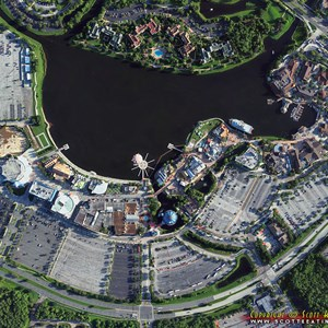 2 of 2: Disney Springs - Disney Springs construction - aerial view July 2013