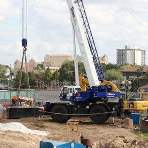 2 of 2: Disney Springs - Construction on 'The Landing'