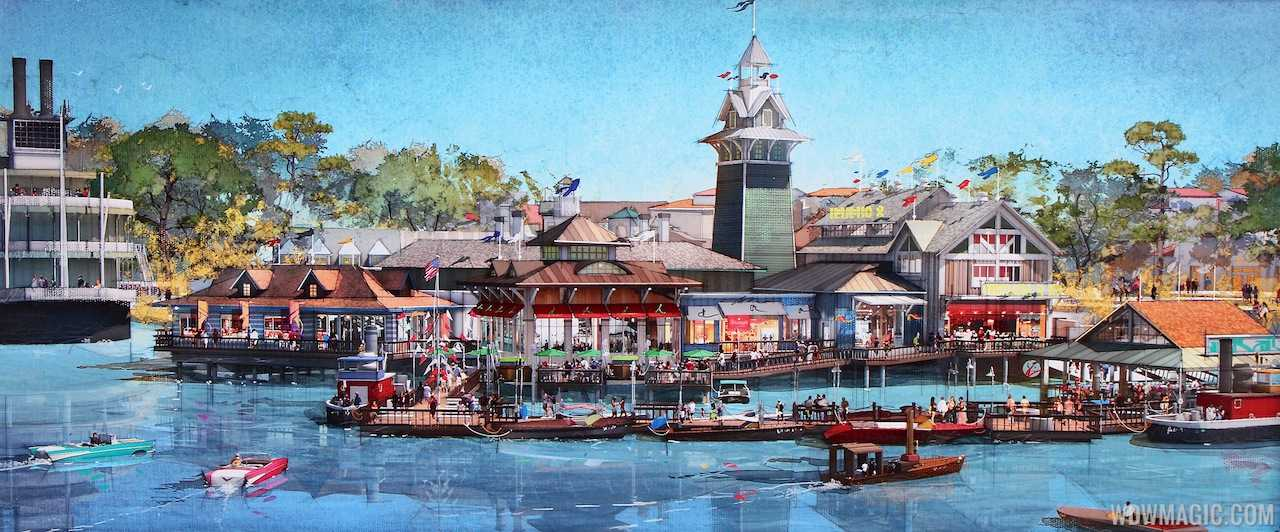 Concept art of The Landing at Disney Springs