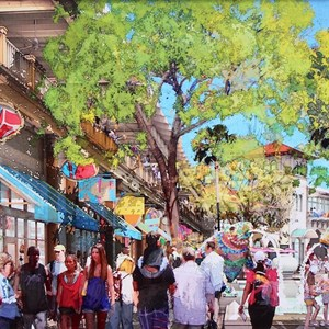 1 of 6: Disney Springs - New Disney Springs concept art