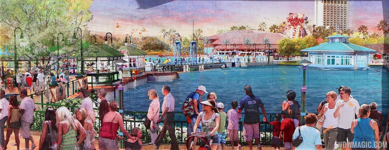 Concept art of the Disney Springs Marketplace Causeway