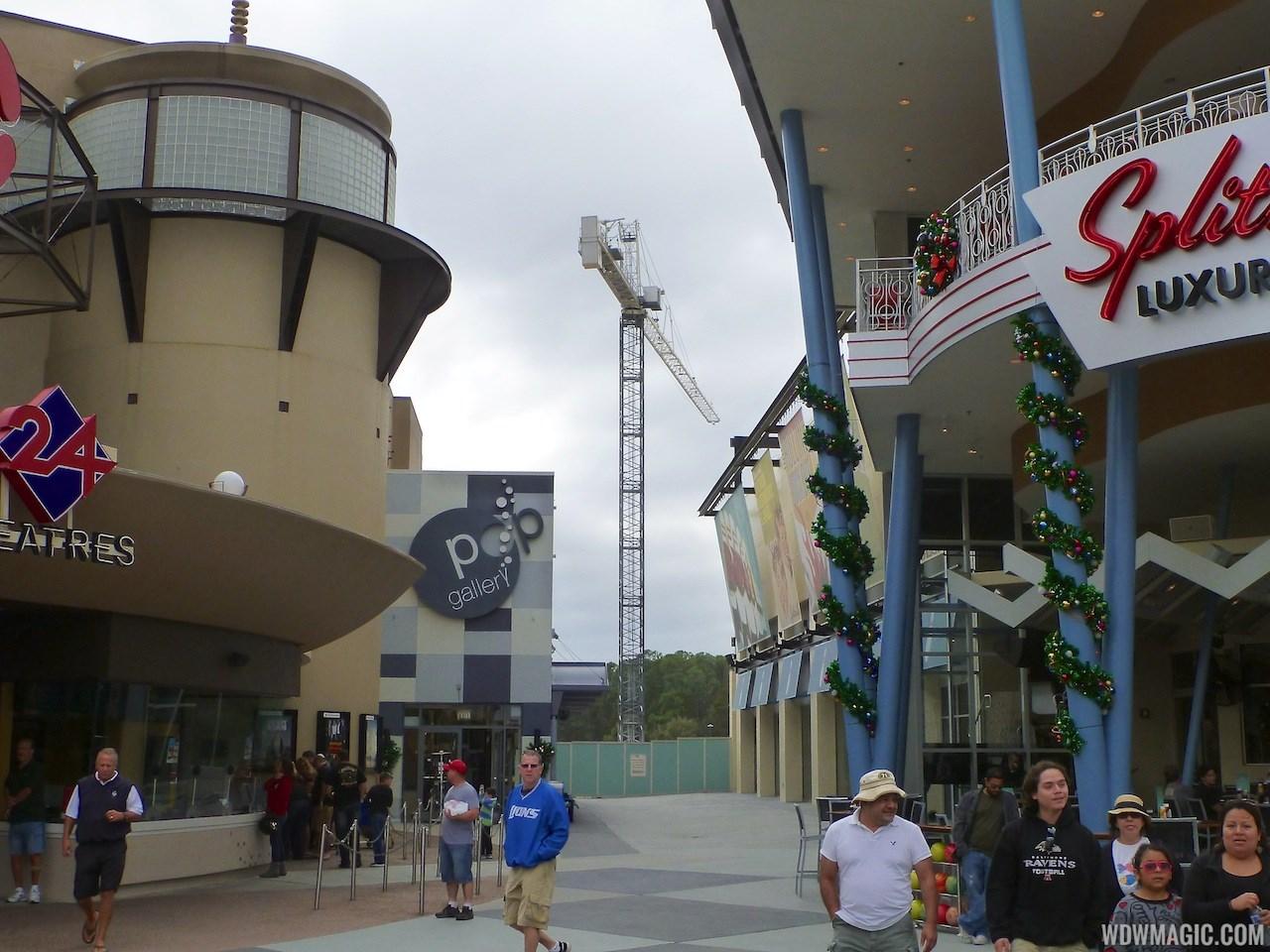 Disney Springs parking garage construction