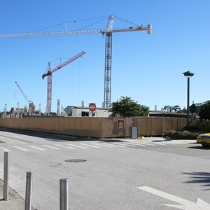 2 of 2: Disney Springs - Disney Springs West Side parking garage construction - Ground level view