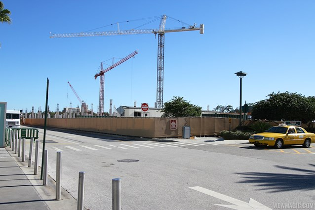 Disney Springs - Disney Springs West Side parking garage construction - Ground level view