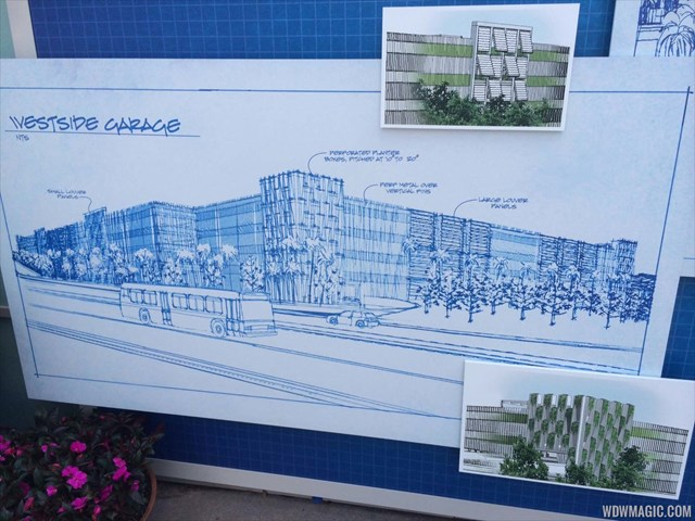Disney Springs West Side parking Garage concept art