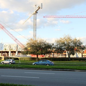2 of 3: Disney Springs - Disney Springs West Side parking garage construction
