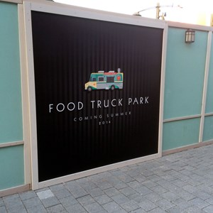1 of 2: Disney Springs - Food Truck Park signage