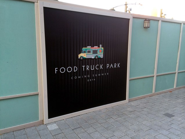 Disney Springs - Food Truck Park signage