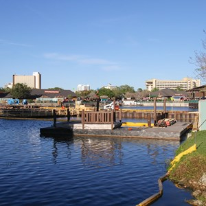 1 of 2: Disney Springs - Marketplace Causeway construction