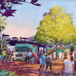 1 of 2: Disney Springs - Food Truck Park concept art
