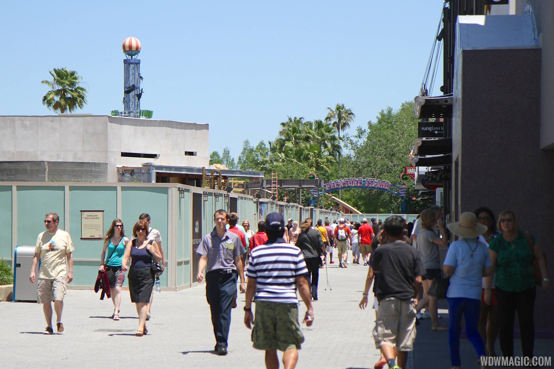 Disney Springs West Side Highline construction