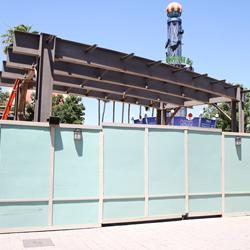 Disney Springs West Side Highline construction